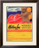 Matson Line, Hawaii and South Seas Framed Giclee Print