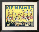 Klein Unicycle Family Circus Framed Giclee Print