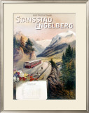 Stansstad Engelberg Railway Train Framed Giclee Print