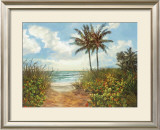 Beach Walkway Prints by Laurie Snow Hein