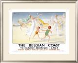Belgian Coast Framed Giclee Print by Jean Droit