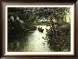 River Landscape Poster by Manuel Garcia Y Rodriguez