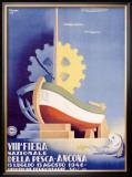 Fiera della Pesca Shipping Port Framed Giclee Print by  Polenti