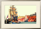 Whitby: Captain Cook Embarking Framed Giclee Print by Fred Taylor