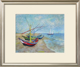 Fishing Boats on the Beach at Saints-Maries, c.1888 Prints by Vincent van Gogh