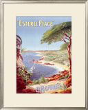 St. Raphael Beach Resort Framed Giclee Print by Henri Gray
