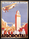 Marocco via Aeropostale Airline Framed Giclee Print