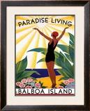 Paradise Living Framed Giclee Print