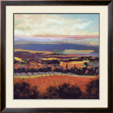 Tuscan Sunrise Poster by Dennis Rhoades