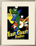 East Coast Frolics, No. 6 Framed Giclee Print by Frank Newbould