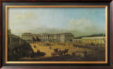 The Castle Schoenbrunn Courtyard Poster by  Canaletto