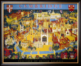 Cambridge, BR Poster, circa 1950s Framed Giclee Print by Kerry Lee
