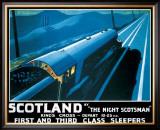 LNER, Scotland by the Night Scotsman, 1932 Framed Giclee Print by Robert Bartlett
