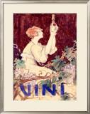 Vini Framed Giclee Print by C. Santini