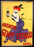 The Absinthe Gempp Pernod Framed Giclee Print by Leonetto Cappiello