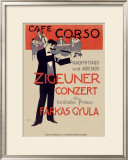 Cafe Corzo Violin Concert Framed Giclee Print