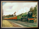 Royal Lancer LNER 4-6-2 steam locomotive, circa 1930 Framed Giclee Print by F Moore