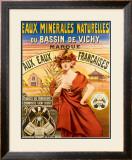 Eaux Minerales Naturelles Framed Giclee Print
