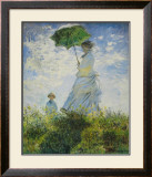 Lady with Parasol Prints by Claude Monet