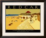Redcar Framed Giclee Print by A E Martin