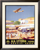 Ala Littoria Framed Giclee Print by Mariano Bertuchi