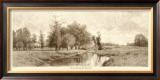 The Meadow Brook in Sepia Prints by C. Harry Eaton