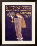Applied Arts Exhibition, Dresden Framed Giclee Print by Otto Gussmann