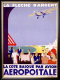 La Fleche d'Argent, Aeropostale Framed Giclee Print