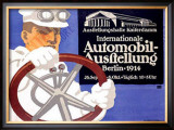 Automobil Ausstellung Framed Giclee Print by Lucian Bernhard