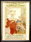 La Femme et l&#39;Enfant Expo Framed Giclee Print by Fernand Toussaint