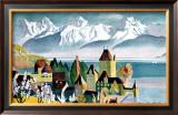 Lake Thunersee, Alpine Resort Framed Giclee Print