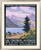Lac Chambon, Auvergne Framed Giclee Print by Constant Leon Duval