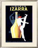 Liqueur Izarra Framed Giclee Print by Paul Colin