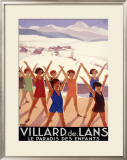 Vilard de Lans Health Spa Resort Framed Giclee Print