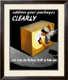 Address Your Packages Clearly Framed Giclee Print by Miles Harper