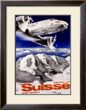 Swiss Airways Framed Giclee Print