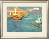 Boats in Harbor I Prints by George Lambert