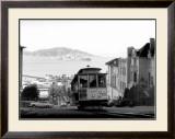 San Francisco, Cable Car, Alcatraz Framed Giclee Print