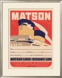 Matson Lines Oceanic Line Framed Giclee Print