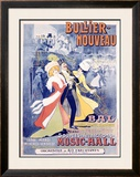 Bullier, Nouveau Bal Framed Giclee Print by Marcellin Auzolle