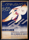 Carnaval Barcelona Framed Giclee Print by Blay Augusto Oliva