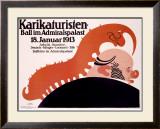 Karikaturisten Ball Framed Giclee Print by  Klinger