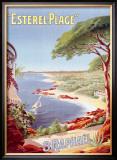 St. Raphael Beach Resort Framed Giclee Print by Henri Gray