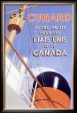 Cunard Line, British French Ocean Lines Framed Giclee Print