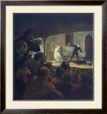 The Play Prints by Honore Daumier