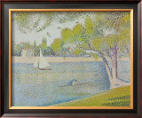 The Seine at Courbevoie, c.1886 Poster by Georges Seurat