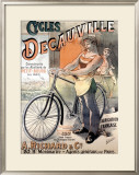 Cycles Decauville Framed Giclee Print by Alfred Choubrac