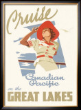 Canadian Pacific Oceanline Lakes Framed Giclee Print