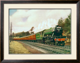 Royal Lancer LNER 4-6-2 steam locomotive, circa 1930 Framed Giclee Print by F Moore