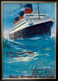 S.S. Paris Framed Giclee Print by Albert Sebile